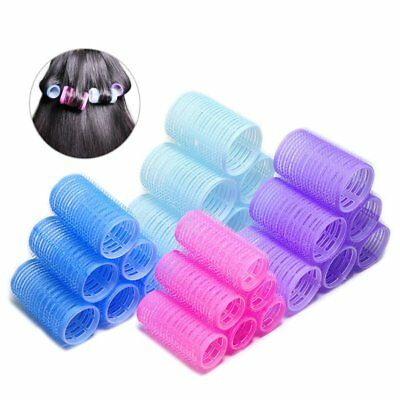 Easy Use DIY 6pcs Soft Large Hair Salon Rollers Curlers Tools Hairdressing VU
