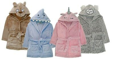 Girls Boys Novelty Animal Bath Robes Kids Dress Up Dressing Gowns Xmas Gift Size