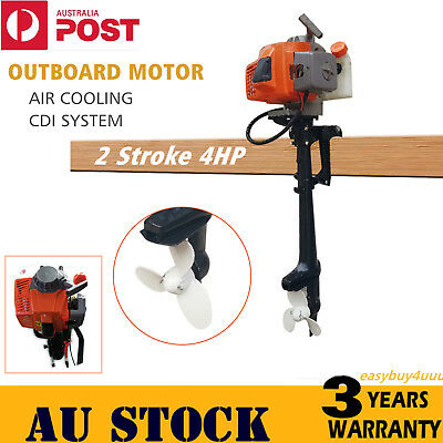 Outboard Motor 2-Stroke 4HP Fishing Boat Engine Air cooling CDI System 62CC AU!