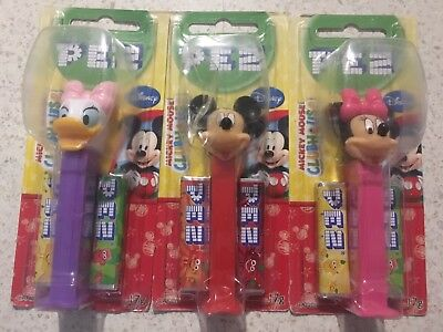 BNIP PEZ Mickey Mouse Clubhouse Mickey Minnie Daisy
