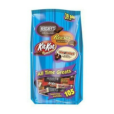 (105 Count) - HERSHEY'S Chocolate Candy Assortment Reese's, Kit Kat, Whoppers