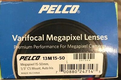 "PELCO - SURVEILLANCE CAMERA VARIFOCAL MEGAPIXEL LENS 15-50mm 1/3"" CS  13M15-50"