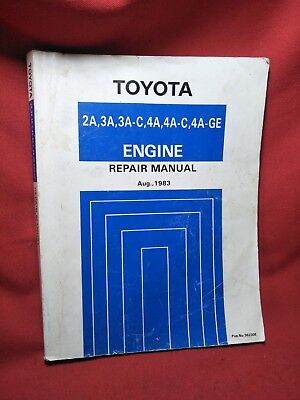 Toyota Corolla 2A 3A 3A-C 4A 4A-C 4Age Workshop Repair Manual Ae86 Ae71 Sprinter