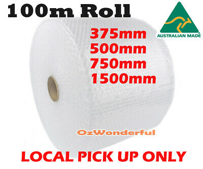 Bubble Cushioning Wrap 375, 500, 750MM 100M Roll Clear Polycell P10 10mm Bubbles