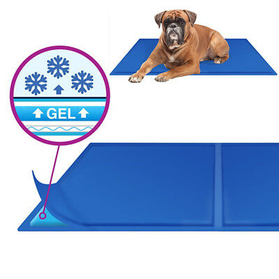 Pet Cool Gel Mat Dog Cat Bed Non-Toxic Cooling Dog Summer Cooling Pad 2 Sizes