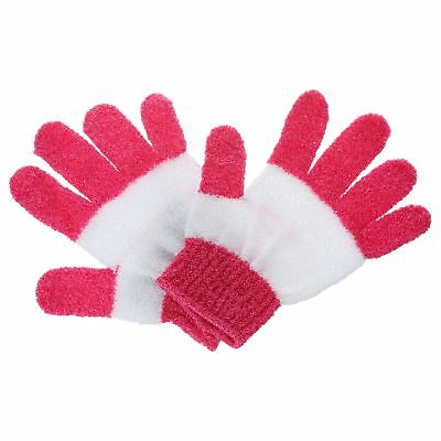 2 Gants de massage exfoliant - Rose