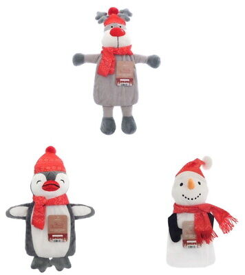 A Novelty Christmas Animal Design Hot Water Bottles With Cover