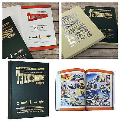 Personalised Thunderbirds Original Comic Strip Collection Embossed Book Gift Box