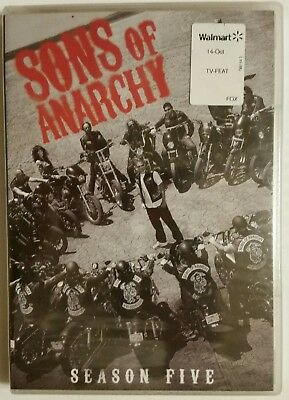 SONS OF ANARCHY Season 5 (2013, 4-DVD Set) *Charlie Hunnam* SHIPS OUT Mon-Sat!