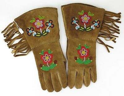 Native American Indian Athapaskan gauntlets. PROVENANCE