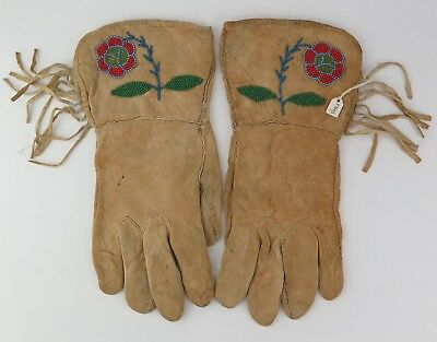 Native American Indian Blackfoot gauntlets. PROVENANCE
