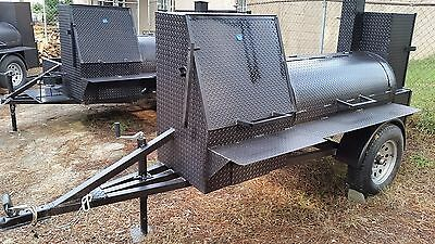 BBQ Smoker 30 Grill Catering Business Wedding Event Fair Mobile Food Cart Truck