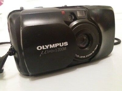 Olympus mju II Stylus Epic 35mm Compact Film Camera with 35 mm lens Kit