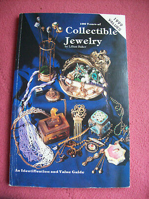 100 years of Collectible Jewelry Identification Value Guide Book by Baker