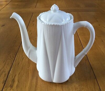 Shelley Dainty White Coffee Pot 1925  - 1945 Excellent Condition