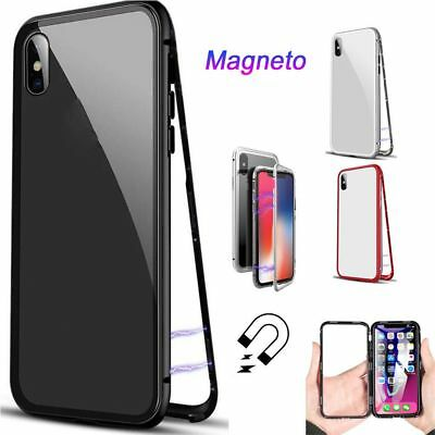 Magnetic Adsorption Metal Bumper Phone Case For iPhone X 7 8 Plus Back Cover BN
