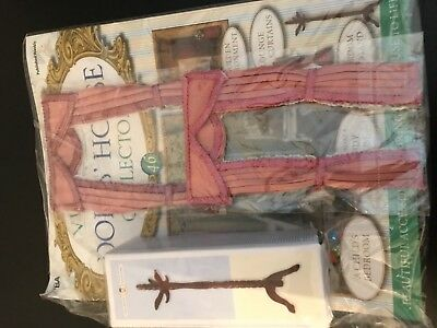 Victiorian Dolls House Collector Issue 46 2 Pairs Curtains And Coat Stand