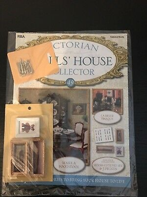 Victiorian Dolls House Collector Issue 49 Wall Pictures And Cutlery