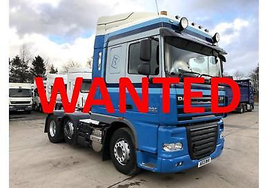 Wanted. Daf Xf 105 460 6X2 Space Cab Tractor Unit, Top Price Paid