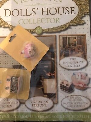 Victiorian Dolls House Collector Issue 60 Baby Toy Basket And Dolls House