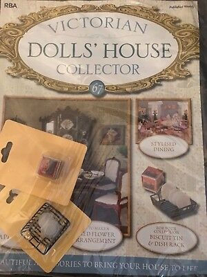 Victorian Dolls House Collector Issue 67 Biscuit Tin And Dish Rack