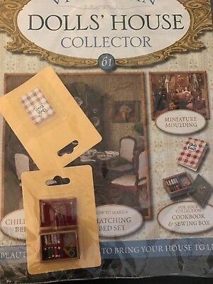 Victiorian Dolls House Collector Issue 61 Cook Book And Sewing Box