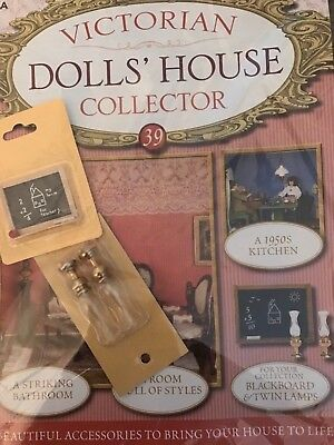 Victiorian Dolls House Collector Issue 39 Blackboard And Twin Lamps