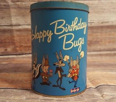 1989 Bugs Bunny 50th Anniversary Brachs Candy Tin  Looney Tunes