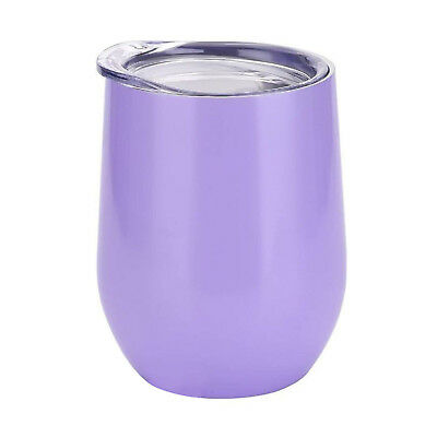 (350ml, Lavender) - Stemless Wine Tumbler Vacuum Insulated - 350ml Double Wall