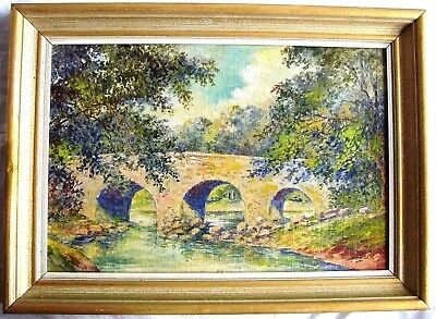 Very Fine Vintage Signed Original Impressionism Oil Painting