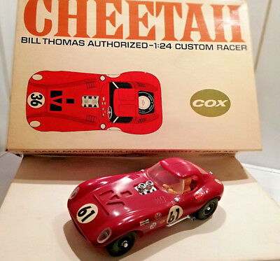Vintage Slotcar  1:24 *** Cox Cheetah *** NEW / boxed / never on track