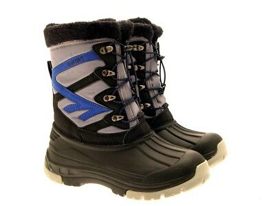Hi-Tec Avalanche Womens Mens Girls Boys Winter Snow Boots Winter Size Uk 10-12