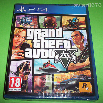 Grand Theft Auto V Five Nuevo Y Precintado Pal España Playstation 4 Ps4