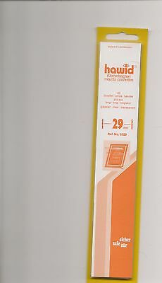 HAWID MOUNTS 29mm strips clear pack of 25