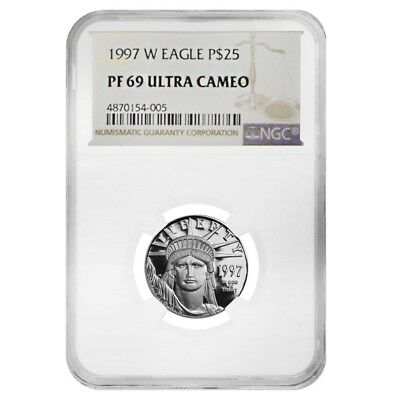 1997 W 1/4 oz $25 Platinum American Eagle Proof Coin NGC PF 69 UCAM
