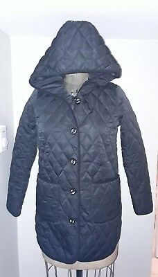 Nwt Sweet Mommy Maternity Sz M  Black Quilted Coat-Love