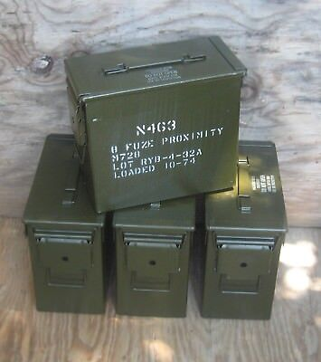 "( 4 Pack ) Tall 50 Cal. Ammo Cans   ""free Shipping"""