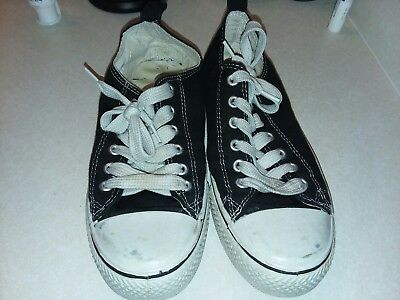 Black And White Faux Converse Sneakers Size 7/8