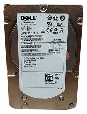 "Lot of 2 Seagate Dell Cheetah 15K.6 ST3450856SS 450GB 3.5"" SAS Enterprise Hard"