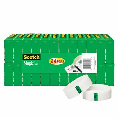 "Scotch® Magic™ Invisible Tape, 3/4"" x 1,000"", Clear, Pack of 24 Rolls"