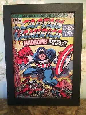 Marvel Comics Captain America Framed Gel Print