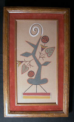 Vintage Navajo Sand Painting by Wilson Price titled Squash