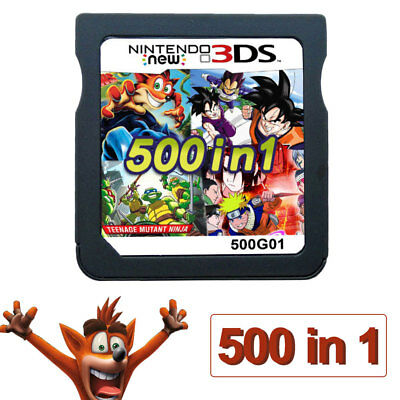 Video Game Card 500 In 1 Cartridge Console for NDS NDSL 2DS 3DS NDSI