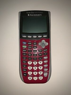 TI 84 Plus Silver Edition Pink - Texas Instruments Graphing Calculator