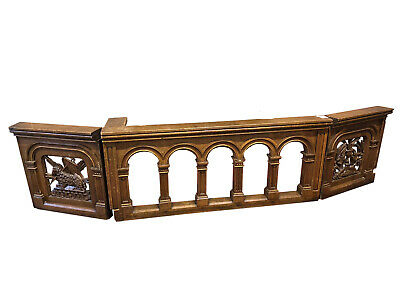 Antique Gothic Church Railing, 11 Feet  Great Architectural Pieces, 19th Century