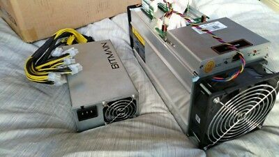 AntMiner S9 13.5TH/s BTC BCH ASIC Miner USED With Power Supply And Power Cord