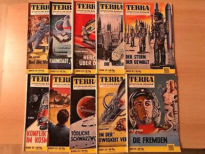 TERRA Utopische Romane, Science Fiction, 10 Hefte, Ausgaben 31-40