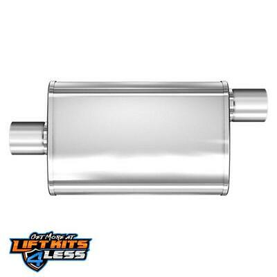 "MagnaFlow 4 /"" x 9 /"" Oval Muffler 2.5 /"" inlet Center Offset 18 inch body 13256"