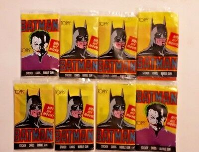 8x Topps BATMAN Trading Cards - 1989 - Series 1