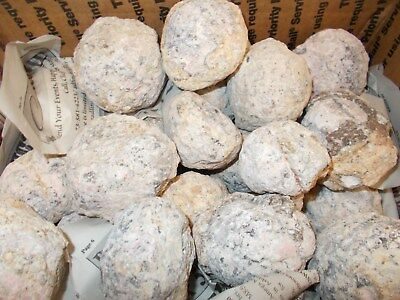 15 Pounds Trancas Geodes 2 1/2 - 3 Inch Size Unopened About 30 Geodes